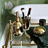 H&M Small Glass Pot, Glass Soap Dispenser, and Glass Toothbrush Mug