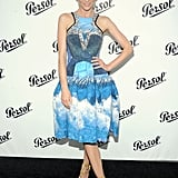 Jaime King posed with her hand on her hip at the Persol Magnificent Obsessions event in NYC.