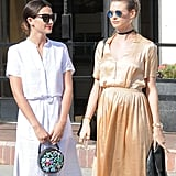 Lily Aldridge and Behati Prinsloo Out in LA April 2016
