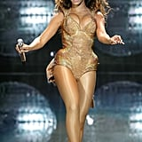 Beyoncé wowed the crowd at NYC's Madison Square Garden in June 2009 by wearing a golden costume.