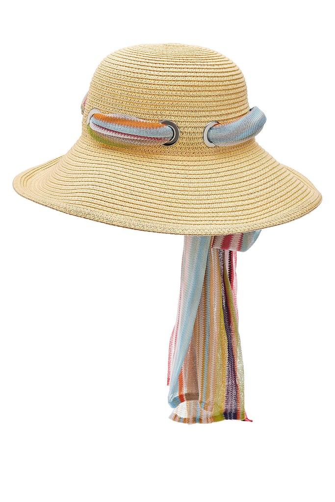 Find a straw hat with personality, like the Missoni Mare Straw Hat With Printed Scarf ($429)