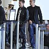 Pictures of Robbie Williams and Ewan McGregor and Ayda Field at LAX
