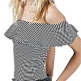 Topshop Stripe Ruffle Bodysuit ($38)