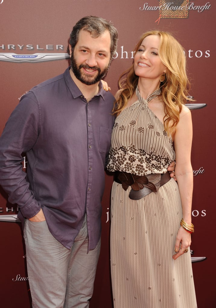 Judd Apatow and Leslie Mann posed together.