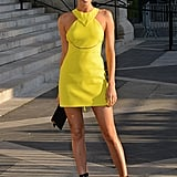 Irina Shayk Made a Statement in a Bright Yellow Minidress