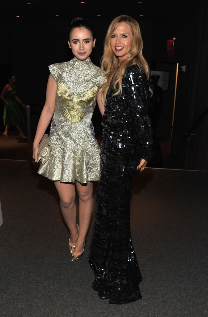 Lily Collins and Rachel Zoe