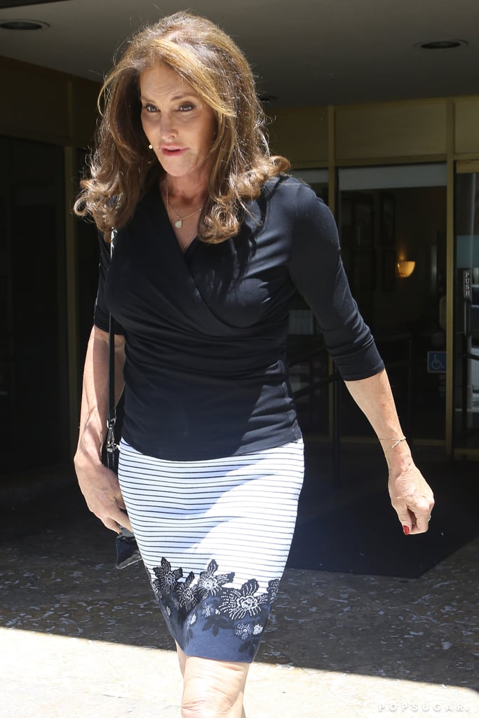 Caitlyn Jenner caught up with daughter Kendall over sushi on Saturday. The ladies were spotted making separate entrances at Sugarfish restaurant in LA. They were joined by Kendall's BFF Hailey Baldwin. While Caitlyn wore a formfitting black top and black-and-white striped skirt, Kendall and Hailey flaunted their midriffs in revealing outfits perfect for the gym. The lunch marks one of Caitlyn's few public appearances since her stunning debut in Vanity Fair in June. Kendall showed support for Caitlyn's new chapter, sharing sweet words on Twitter. Later that month, they got together with most of the Kardashian-Jenner siblings for a picture-perfect Father's Day celebration. Read on for more pictures of Caitlyn's date with her daughter, then see the major milestones she has shared on Instagram.