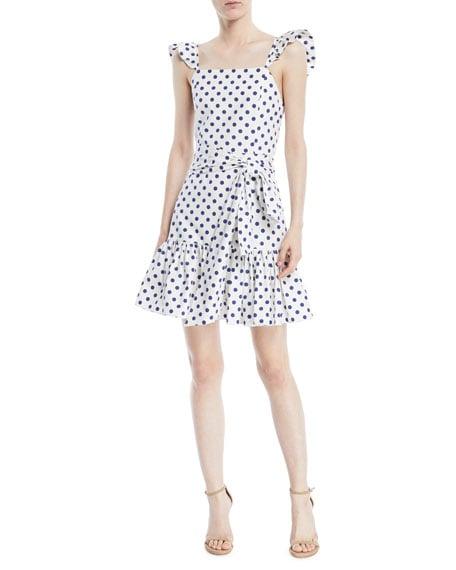 Alice + Olivia Farah Sleeveless Polka-Dot Mini Dress