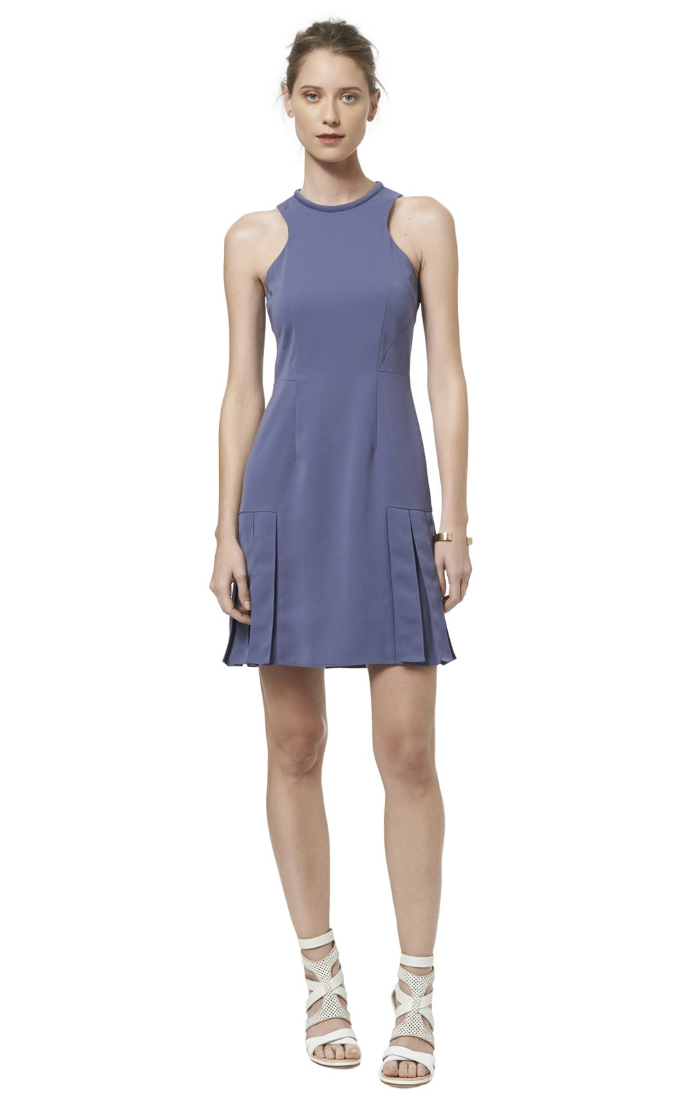 Rebecca Taylor Sleeveless Pleated Dress