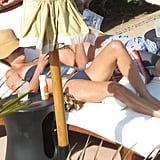 Lauren Conrad relaxed in her bikini and read a book during a July trip to Mexico.