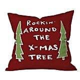 Rockin Around The Xmas Tree Throw Pillow