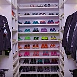 Oh, and did we mention that she has a separate closet just for her workout gear? When you have sneakers in every color, you need a lot of space!