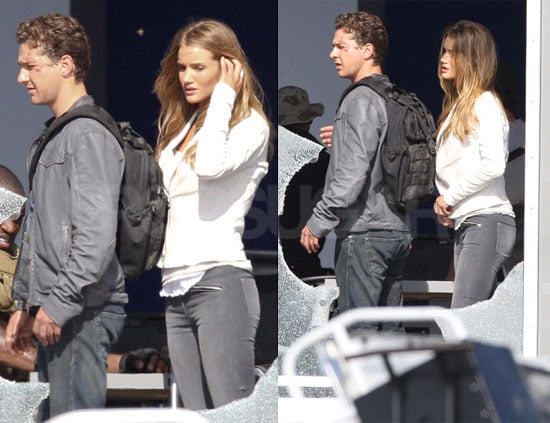Pictures of Shia LaBeouf and Rosie Huntington-Whiteley Shooting Transformers 3 in LA 2010-06-21 21:00:02