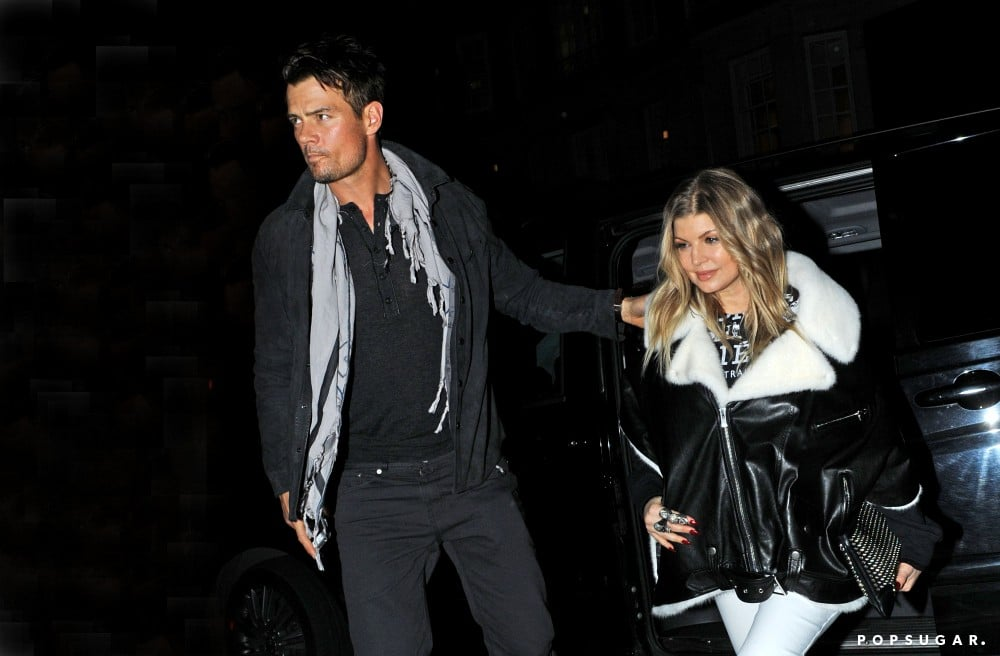 Josh Duhamel led the way for Fergie in London.