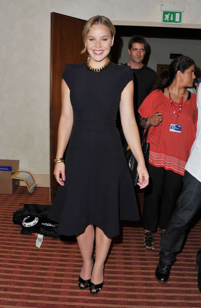 Abbie Cornish was all smiles arriving at the Venice Film Festival.