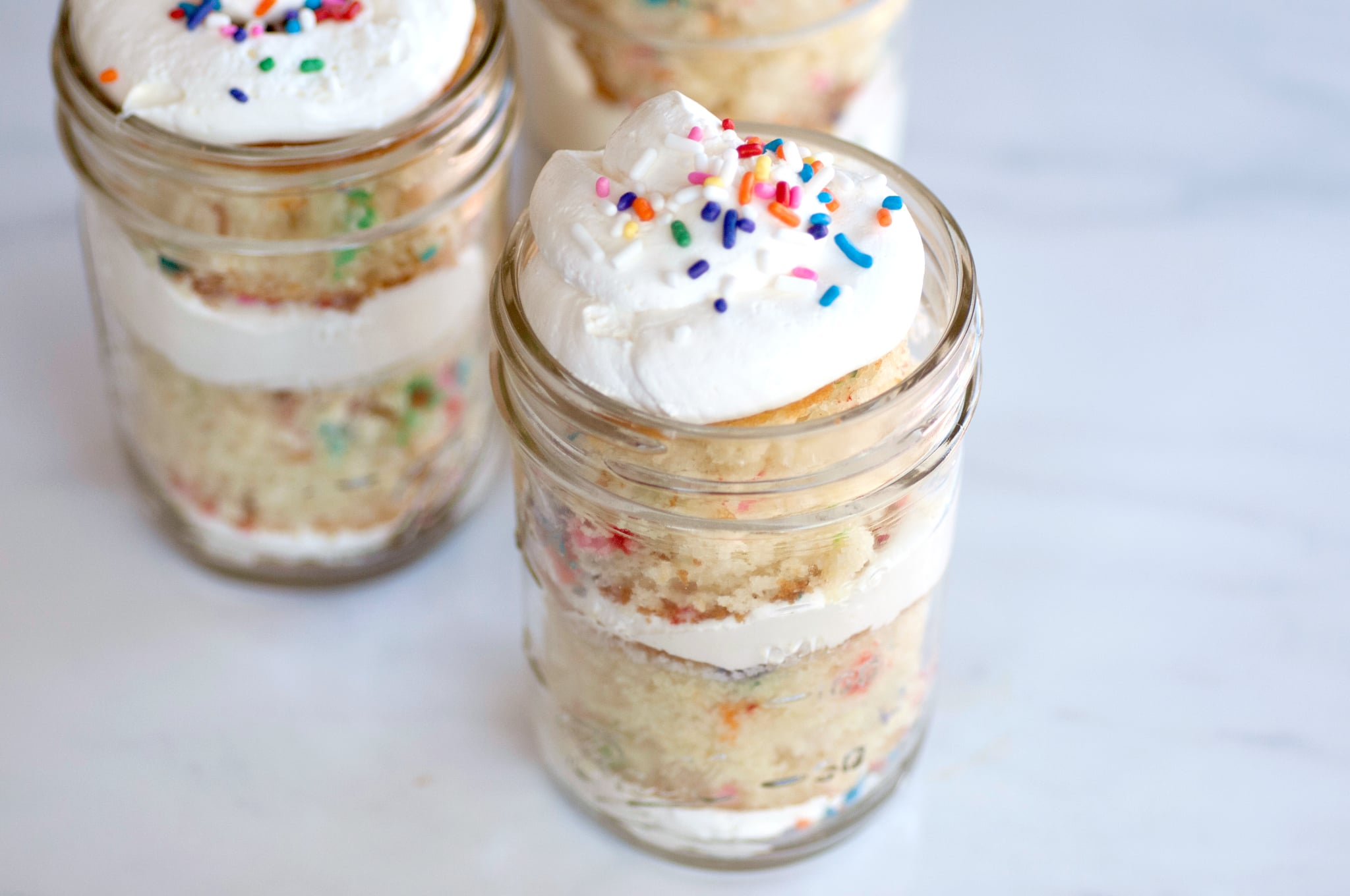 Mason Jar Funfetti Layer Cakes Popsugar Food