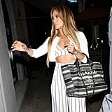 Jennifer Lopez Striped Crop Top and Pants July 2018