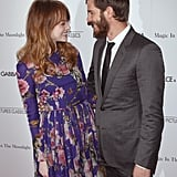 Andrew supported Emma at the NYC premiere of her film Magic in the Moonlight in July 2014.