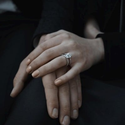 Sophie Turner Engagement Photo Manicure Nail Polish