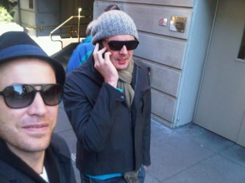 Rag and Bone cuties David and Marcus on the mean streets of San Francisco.