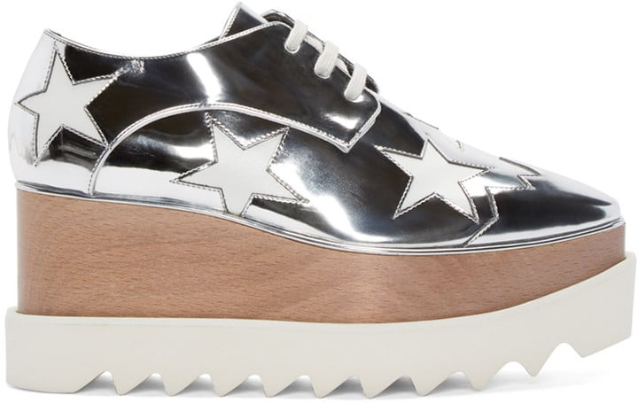 Stella McCartney Silver Star Platform Elyse Derbys ($1,100)