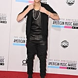 Justin Bieber hit the red carpet at the American Music Awards.