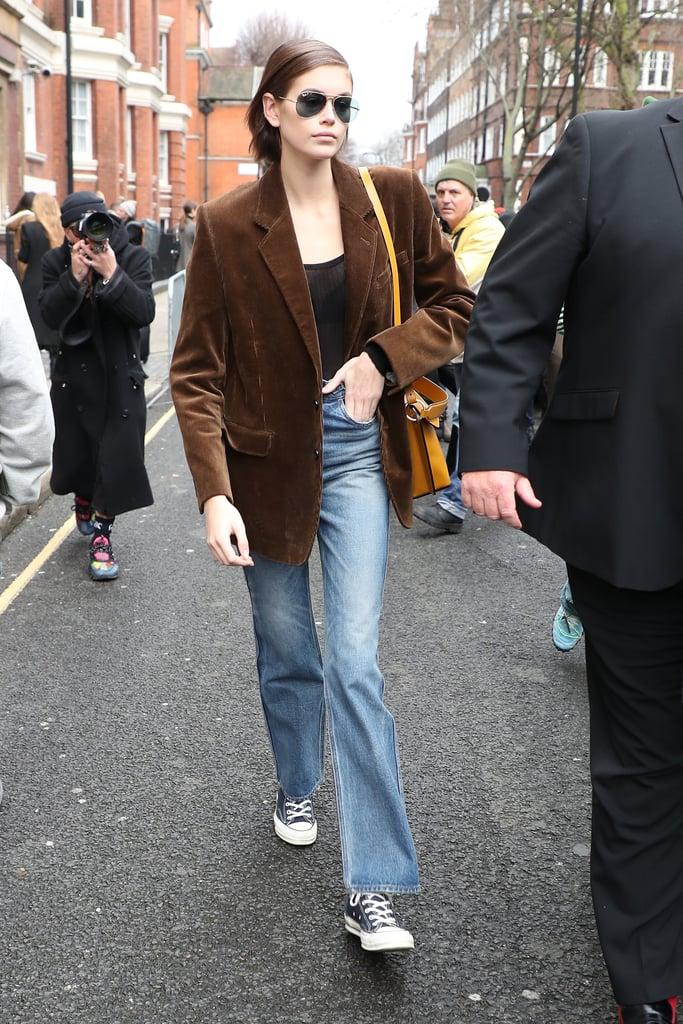 Kaia Gerber's Street Style at London Fashion Week