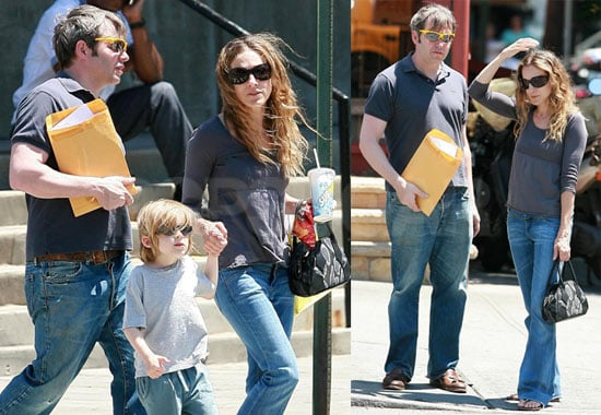 Sarah Jessica Parker, Matthew Broderick, and James Wilkie in New York City