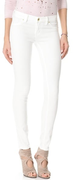 You can never go wrong with a pair of white skinnies, especially in a tropical locale. We're into Blank Denim's Spray-On Jeans ($88).