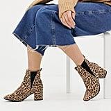 New Look Wide Fit Chelsea Block Heel Boots
