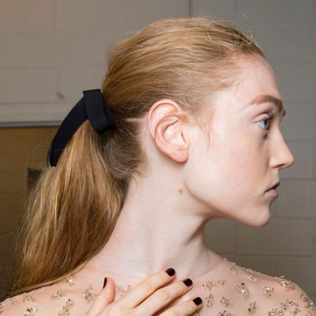 No-Elastic Up 'Dos at New York Fashion Week