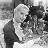 Grace Kelly attended the film festival in 1955. It was during this trip to Cannes that she met Prince Rainier III of Monaco; they were engaged in December of that year, and she officially became Princess Grace in April 1956.