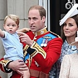 When George Stole the Show at the Trooping the Color
