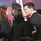 Debra Messing, Megan Mullally, Eric McCormack, and Sean Hayes; 2005 People's Choice Awards