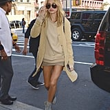 And Again With a Beige Sweater and That Same Duster