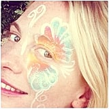Poppy Delevingne channeled her inner flower child.  Source: Instagram user poppydelevingne
