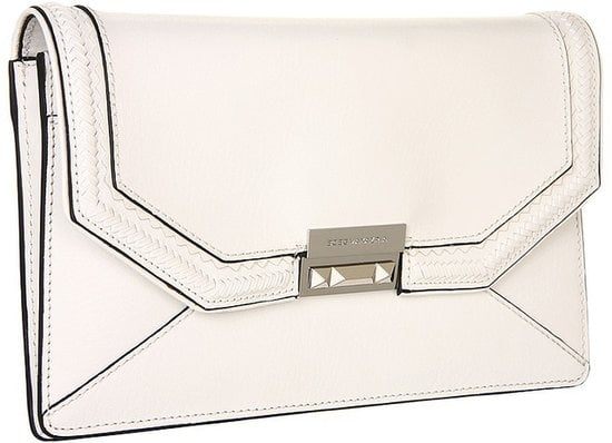 BCBG Max Azria's Emeline Whipstitch Clutch ($238) would serve you well on date night and any Summer cocktail party.