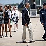 Barack and Malia Obama Holding Hands June 2016
