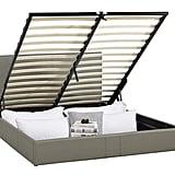 Upholstered Bed Frame with Under Bed Storage