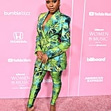 Normani's Versace Suit at the Billboard Women in Music Event