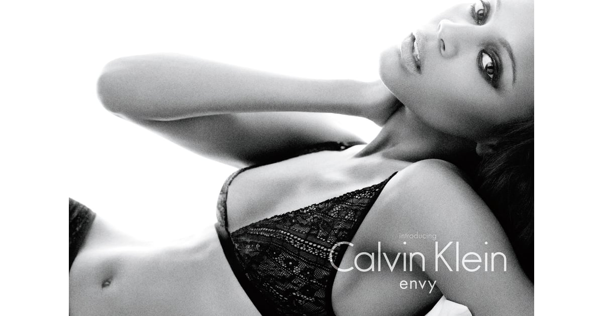 The First Image of Zoe Saldana as Image of Calvin Klein Underwear