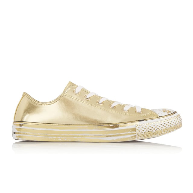 Converse Chuck Taylor 'All Star' Chrome Metallic Leather Sneakers ($95)