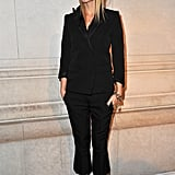 Gwyneth Paltrow in a black tuxedo at the opening of Marc Jacob's Louis Vuitton Exhibit in Paris.