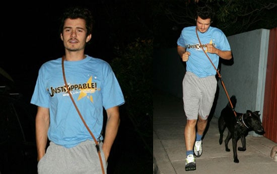 Orlando Takes His Unstoppable Self for a Walk