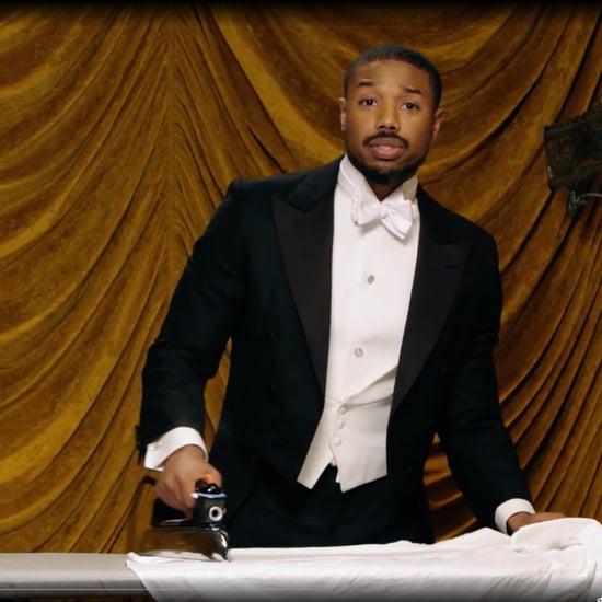 Michael B. Jordan Ironing a Shirt