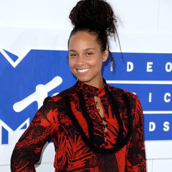 Alicia Keys's No-Makeup Look at MTV VMAs