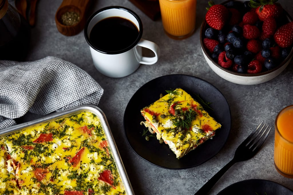 Crustless Quiche With Smoked Salmon and Goat Cheese