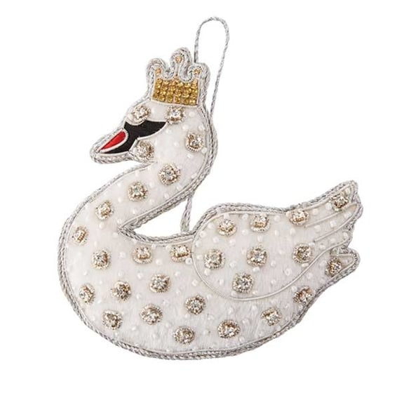 Fortnum mason white velvet swan christmas decoration - Fortnum and mason christmas decorations ...