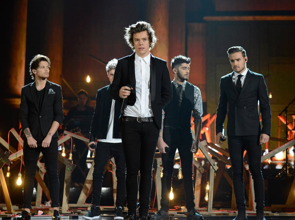 One Direction had all the young girls screaming when they arrived at the 2013 American Music Awards in LA on Sunday. During the show, the group picked up the award for favorite pop/rock album for Take Me Home and is also nominated favorite pop/rock band/duo/group. One Direction also took the stage as one of a number of pop acts who performed at the award show. Other performers include Miley Cyrus, Lady Gaga, Macklemore, and Luke Bryan.  One Direction has had a busy week in LA as they have been working tirelessly to promote their new album, Midnight Memories. However, the week hasn't been only about work as Harry Styles was spotted going on a dinner date with Kendall Jenner, aka Kim Kardashian's half-sister.