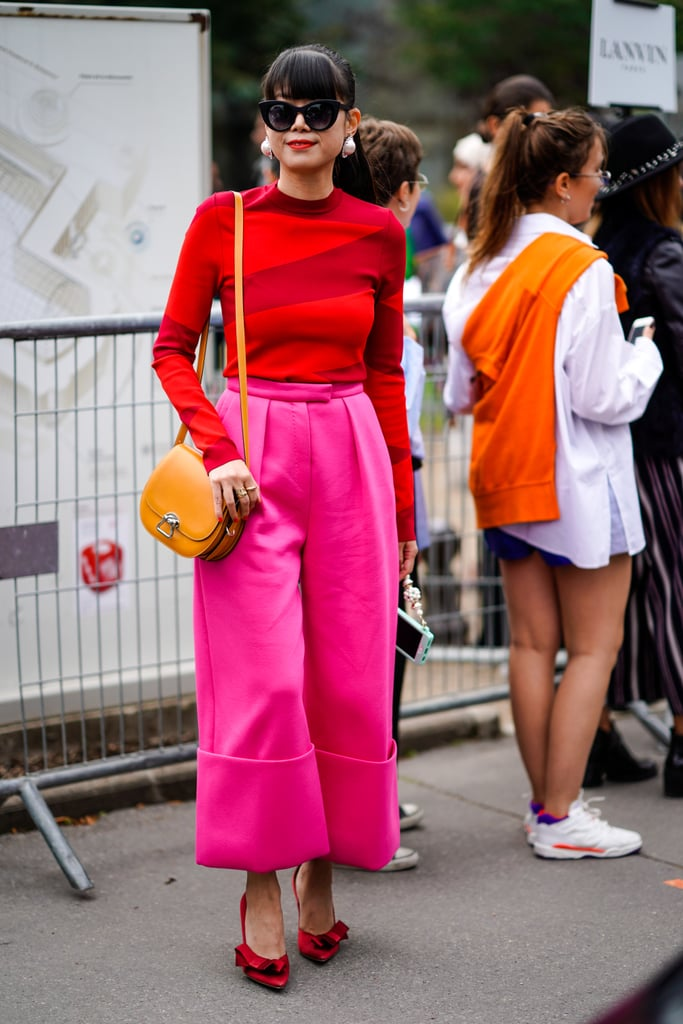 Leaf Greener proves you can mix all the big color trends of 2018 into one outfit and look amazing. Hint: they're yellow, red, and pink.